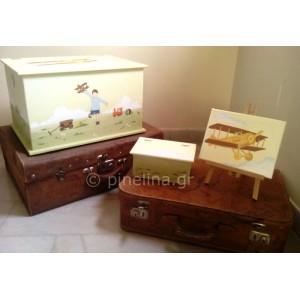 Κουτί βάπτισης, καμβάς και λαδόκουτο ελικόπτερο