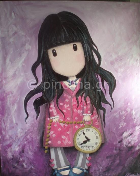 Κοριτσάκι με ρολόι